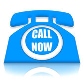 Call Now Telephone — Foto de Stock