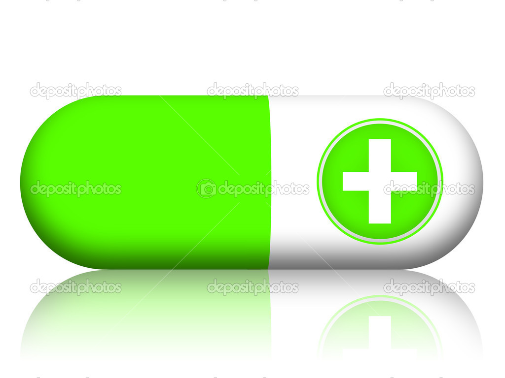 Green pill stock photo skovoroda 9322215