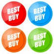 Royalty-Free Stock Photo: Best Buy Label Set