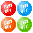 Best Buy Label Set — Stock Photo