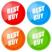 Best Buy Label Set — Stock Photo