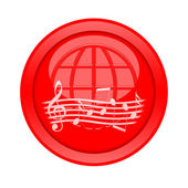 Music Button — Stock Photo