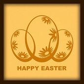 Design retrò di felice Pasqua — Foto Stock