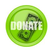 Donate Button — Stock Photo