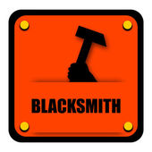 Blacksmith Sign — Stock Photo