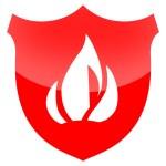 escudo de proteção de fogo — Foto Stock
