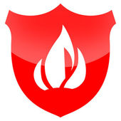 Fire Protection Shield — Stock Photo