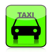 Taxi green icon — Stock Photo