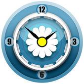 カモミール時計 — ストック写真