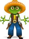 Kurbağa şerif — Stok Vektör