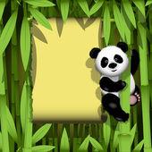 Panda in the jungle — Stock Vector