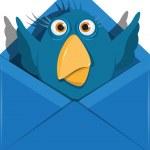 Bird in the envelope — Stock Vector