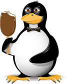Pingüino y helado — Vector de stock