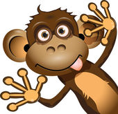 Funny monkey — Stock Vector