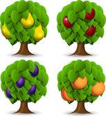 Drzewa owocowe — Wektor stockowy