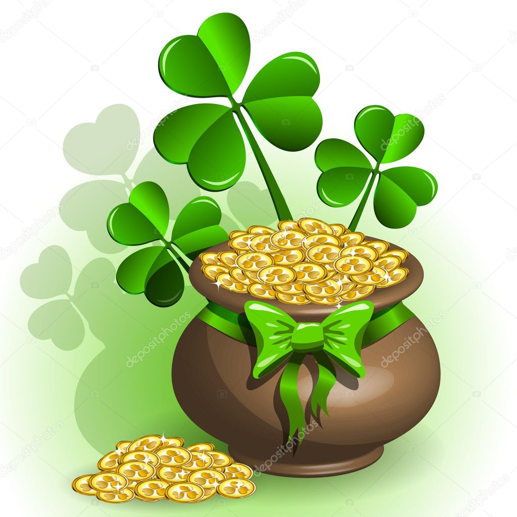 Abstract illustration to the day of saint Patrick — Imagens vectoriais em stock #8793446