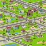 Small town — Stock Vector