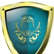 Royalty-Free Stock Vector Image: Shield and crown