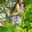 Stock Photo: Happy Young Couple having fun Outdoor