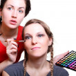 Selection of make-up stylist — Stock Photo