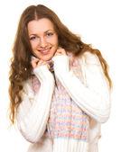 Kazaklı çekici genç kadın — Stok fotoğraf