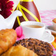 Afternoon tea with fresh baking — Stock Photo #9319540