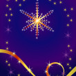 Abstract holiday background with star — Stock Vector