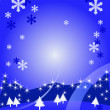 Merry christmas background with winter landscape — Imagen vectorial