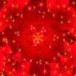 Abstract holiday red background with stars — Image vectorielle