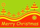 Merry christmas holiday card — Stock Vector