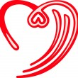 Design heart symbol - Stockvektor