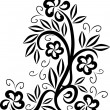 Design floral tattoo symbol - Vettoriali Stock