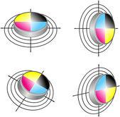 Polygraphic symbols — Stock Vector