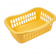 Plastic container isolated on white — Stock Photo