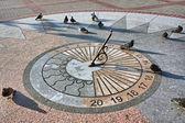 The sundial on granite base — Foto Stock