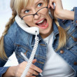 Hard-working young blonde — Stock Photo #9899960
