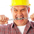 Angry builder — Stock Photo