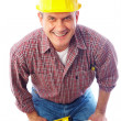 Smiling handsome man-builder — Stock Photo #9900011