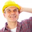 Smiling handsome man-builder — Stock Photo #9900020
