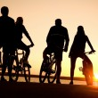 Friends on bicycles — Stock Photo #9900073