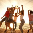 Stock Photo: Party on the beach