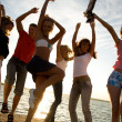 Party on beach — Stock Photo #9901067