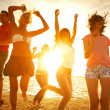 Party on the beach - Stockfoto