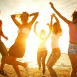 Party on beach — Stock Photo #9901079
