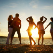 Party on beach — Stock Photo #9901141