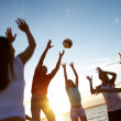 Volleyball on the beach — Stock fotografie