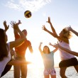 Volleyball on the beach — Stockfoto