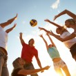 Volleyball on the beach — Foto Stock