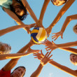 Volleyball on the beach — Stock Photo #9901168