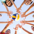 Stock Photo: Volleyball on the beach